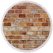 Old Brick Wall Round Beach Towel