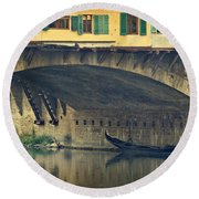 Ponte Vecchio Protection Round Beach Towel