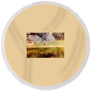 Old Cannon At Gettysburg Round Beach Towel