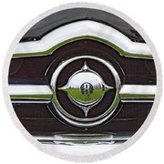 Old Car Grille Round Beach Towel