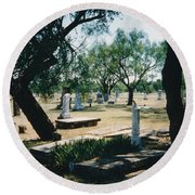 Old Cementery Round Beach Towel