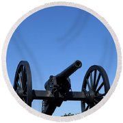 Old Civil War Cannon Round Beach Towel