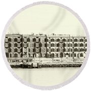 Old Coffee And Cotton Warehouse Round Beach Towel