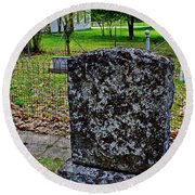 Old Country Cemetery Round Beach Towel