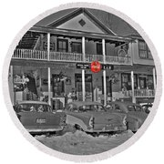 Old Country Store Round Beach Towel