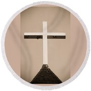 Old Cross Round Beach Towel