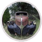 Old Dodge Truck Round Beach Towel