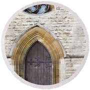 Old Door And Window York Round Beach Towel