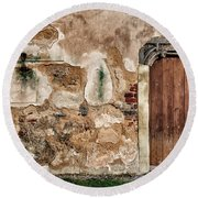 Old Door. Round Beach Towel