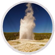 Old Faithful IIi Round Beach Towel