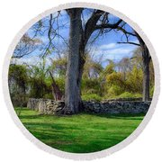 Old Family Plot In Cromwell Valley Park Round Beach Towel
