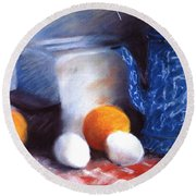 Old Fashioned Breakfast Round Beach Towel