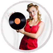 Old Fashioned Music Round Beach Towel