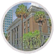 Old Federal Building Round Beach Towel