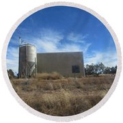 Old Feed Store Round Beach Towel