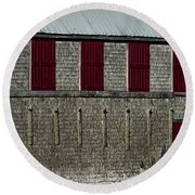 Old Fish House Round Beach Towel