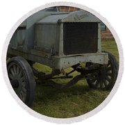 Old Flat Bed Truck Round Beach Towel