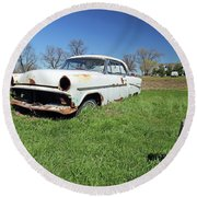 1954 Ford Victoria Round Beach Towel