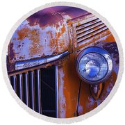 Old Ford Pickup Round Beach Towel
