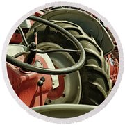 Old Ford Tractors Round Beach Towel