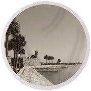Old Fort, St. Augustine, Florida Round Beach Towel