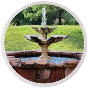 Old Fountain Round Beach Towel