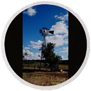 Windmill Color  Round Beach Towel