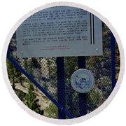 Old Geiger Grade Nevada Round Beach Towel