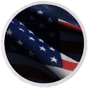 Old Glory 2 Round Beach Towel