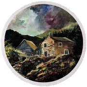 Old Houses 5648 Round Beach Towel