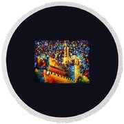 Old Jerusalem Round Beach Towel