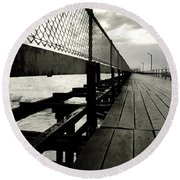 Old Jetty Round Beach Towel