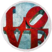 Old Love Round Beach Towel