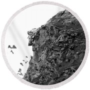 Old Man In The Mountain Round Beach Towel