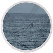 Old Man In The Sea Round Beach Towel