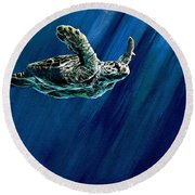 Old Man Of The Sea Round Beach Towel