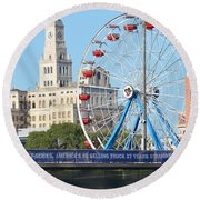 Old Meets New Round Beach Towel