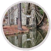 Old Mill 2 Round Beach Towel