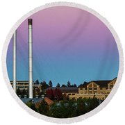 Old Mill District - Bend, Oregon Round Beach Towel