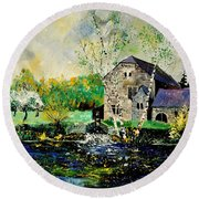 Old Mill In April Round Beach Towel