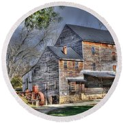 Old Mill Nelson County Virginia Round Beach Towel