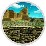 Old New Mexico Round Beach Towel