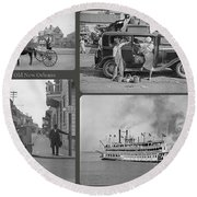 Old New Orleans Round Beach Towel