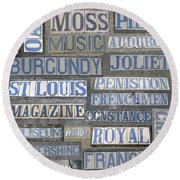 Old New Orleans Street Tiles Round Beach Towel