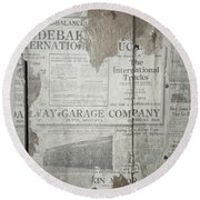 Old News Round Beach Towel