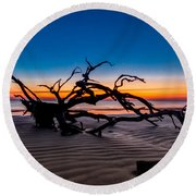 Old Oak New Day Round Beach Towel by Debra and Dave Vanderlaan