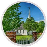 Old Peace Chapel Defiance Mo 7r2_dsc6739_04252017 Round Beach Towel