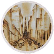 Old Philadelphia City Hall 1920 Round Beach Towel