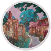 Old Place Round Beach Towel