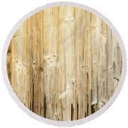 Old Planked Wood Used As Background Round Beach Towel